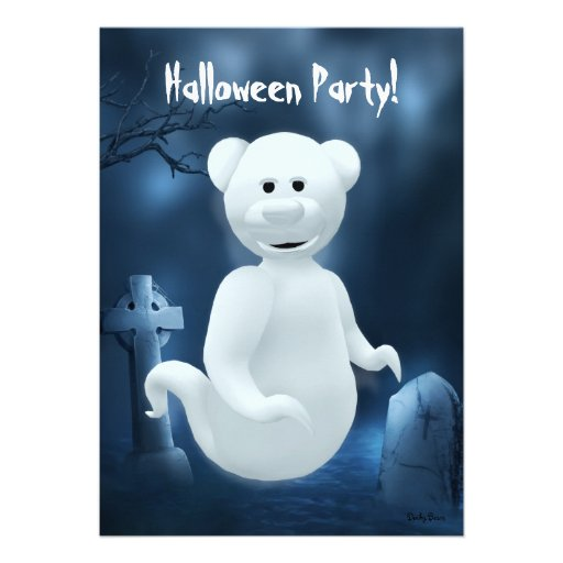 Dinky Bears Little Ghost Personalized Announcement