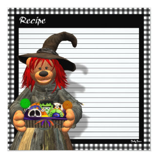 Dinky Bears Little Kitchen Witch 13 Cm X 13 Cm Square Invitation Card