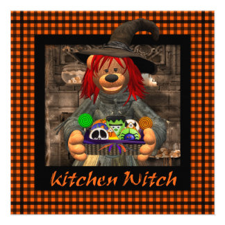 Dinky Bears Little Kitchen Witch Personalized Invitation