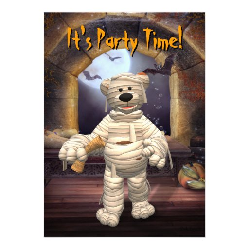 Dinky Bears Little Mummy Personalized Announcements