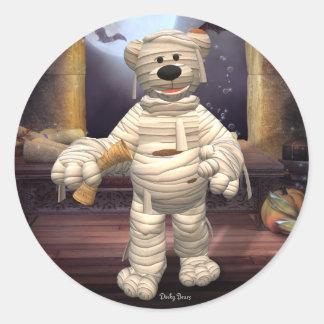 Dinky Bears Little Mummy Round Sticker