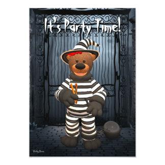 Dinky Bears Little Prisoner 13 Cm X 18 Cm Invitation Card