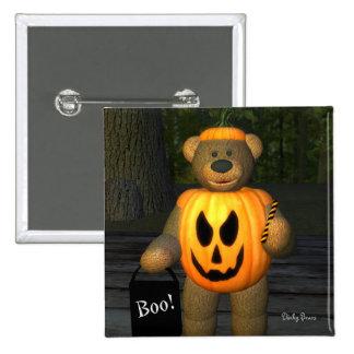Dinky Bears Little Pumpkin Boy 15 Cm Square Badge