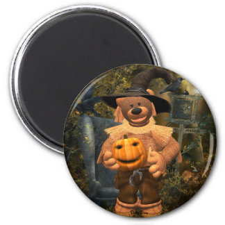 Dinky Bears Little Scare Crow 6 Cm Round Magnet