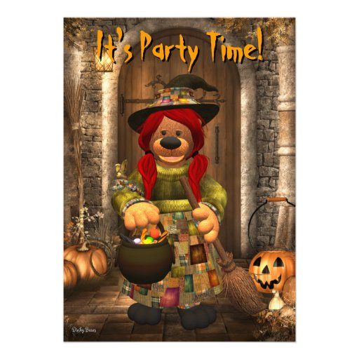 Dinky Bears Little Trick or Treat Witch Announcements
