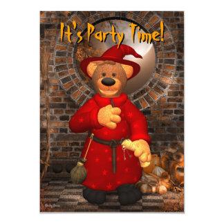 Dinky Bears Little Trick or Treat Wizard 13 Cm X 18 Cm Invitation Card