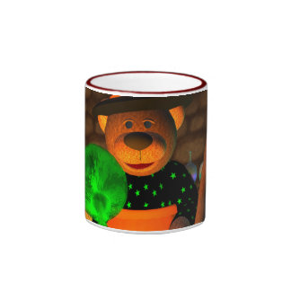 Dinky Bears Little Witch Ringer Coffee Mug