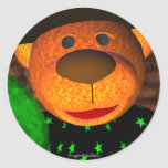 Dinky Bears Little Witch Round Sticker