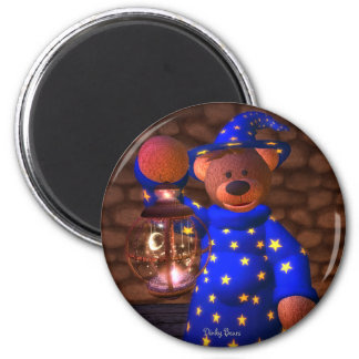 Dinky Bears Little Wizard 6 Cm Round Magnet