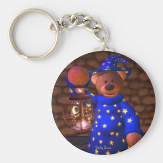 Dinky Bears Little Wizard Basic Round Button Key Ring