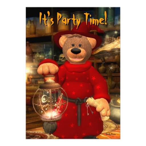 Dinky Bears Little Wizard Personalized Invite