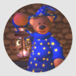 Dinky Bears Little Wizard Round Stickers