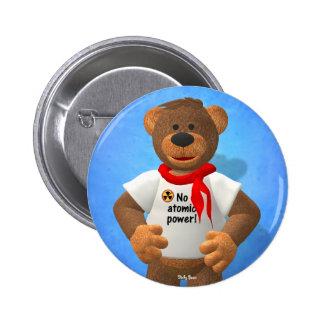 Dinky Bears: No atomic power! 6 Cm Round Badge