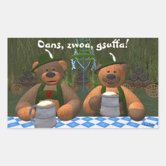Dinky Bears Oktoberfest Rectangle Sticker