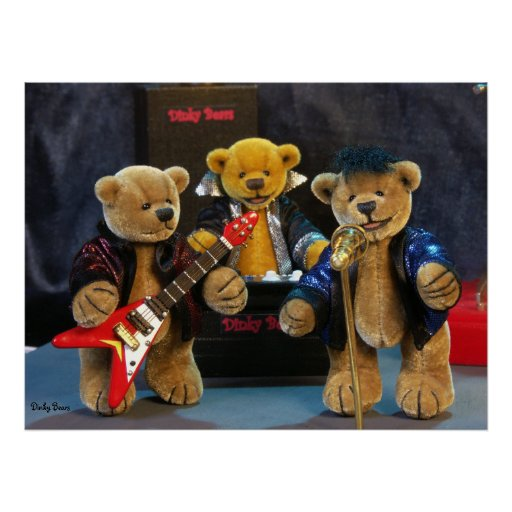 Dinky Bears on Stage Poster