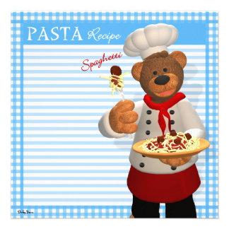 Dinky Bears Pasta Chef Invitation