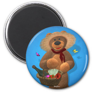Dinky Bears: Picnic Time 6 Cm Round Magnet