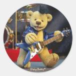 Dinky Bears: Rockstar Runder Aufkleber
