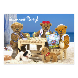 Dinky Bears: Summer Party! Card