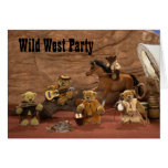 Dinky Bears: Wild West Party Greeting Card