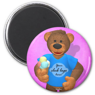 Dinky Bears: Your Club Bear! 6 Cm Round Magnet