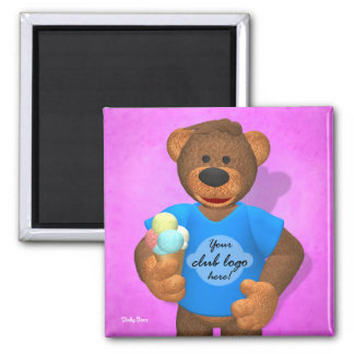 Dinky Bears: Your Club Bear! Square Magnet