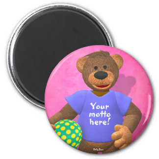 Dinky Bears: Your Motto Bear 2 6 Cm Round Magnet