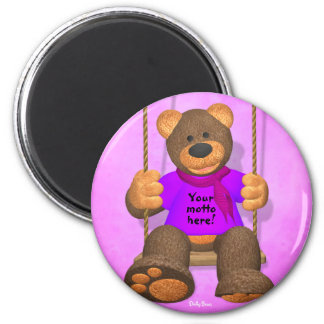 Dinky Bears: Your Motto Bear 3 6 Cm Round Magnet