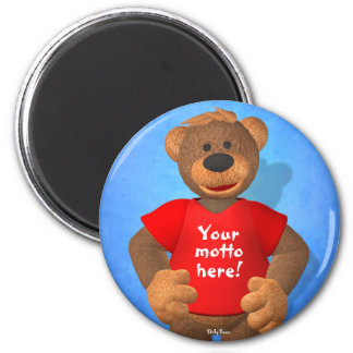Dinky Bears: Your Motto Bear! 6 Cm Round Magnet