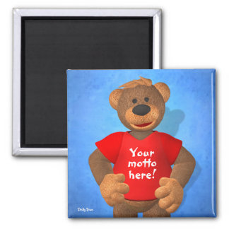 Dinky Bears: Your Motto Bear! Square Magnet