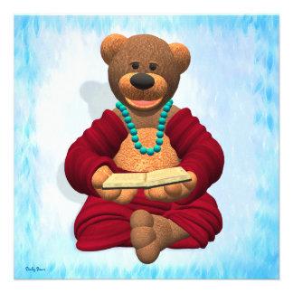 Dinky Buddha Bear with Book Custom Announcement