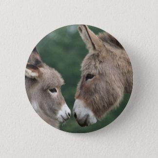 Dinky donkey 6 cm round badge