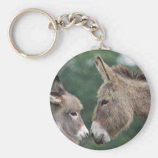 Dinky donkey basic round button key ring