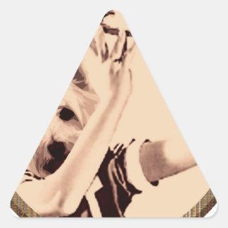 Dinner dog triangle sticker