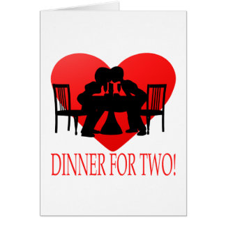 Dinner For Two Card
