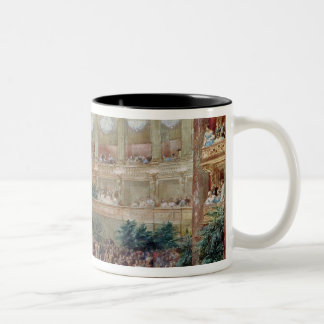 Dinner in the Salle des Spectacles at Two-Tone Coffee Mug