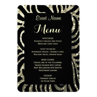 Dinner Menu | Gold and Black 13 Cm X 18 Cm Invitation Card