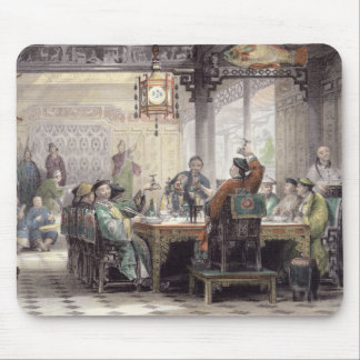 Dinner Party at a Mandarin's House, from 'China in Mouse Mat