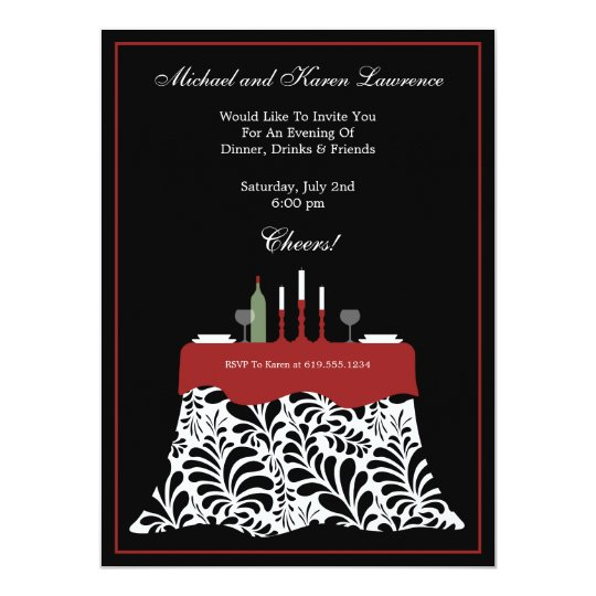 Dinner Party Celebration Card