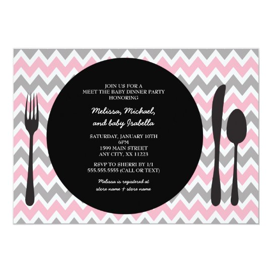 Dinner Party Invite / meet the baby girl