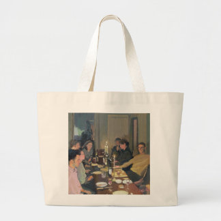 Dinner Party Large Tote Bag
