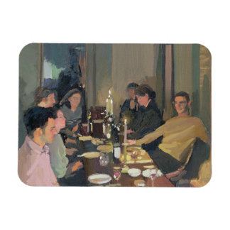 Dinner Party Rectangular Photo Magnet