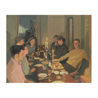 Dinner Party Wood Canvases