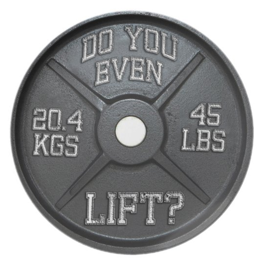 Dinner Plate - 45 lbs Plate - Do You Even Lift