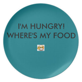 DINNER PLATE ANGRY -TEAL COLOR