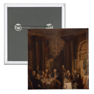 Dinner Table at Sanssouci, 1850 15 Cm Square Badge