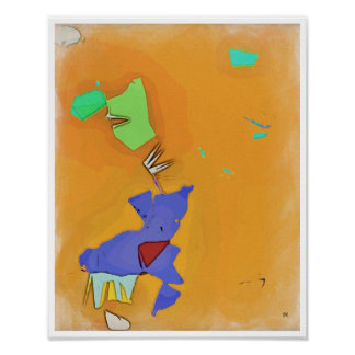 Dinner Time Abstract Surrealism Poster Art