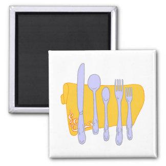 Dinnerware Cooking Design Template Fridge Magnets