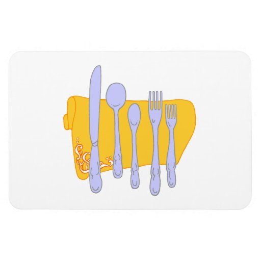 Dinnerware Cooking Design Template Rectangular Magnets