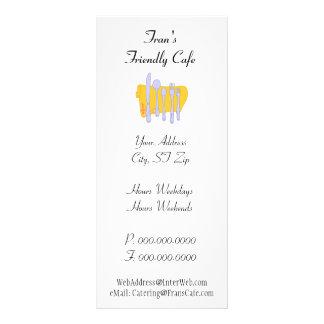 Dinnerware Custom Restaurant Advertising Template Rack Card